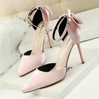 Women's Stiletto High Heels Pumps Pointed Toe Dress Ladies Party Wedding Shoes