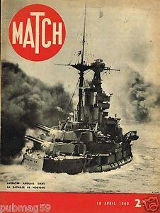 Match 18/04/1940 Cuirassé Anglais dans la Bataille de Norvège