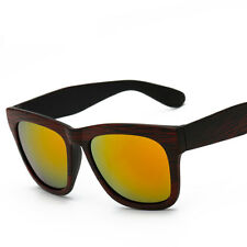 Mens Women Retro Vintage Bamboo Wood Print Sunglasses Mirror Eyewear Eye Glasses