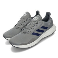 adidas Duramo 9 Grey Dark Blue White Men Running Casual Shoes Sneakers EE8028