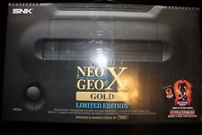 SNK Neo Geo X Gold Limited Edition Console handheld switch portable Rare sealed