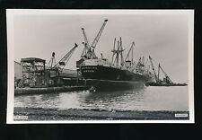 Wales Mon Monmouthshire NEWPORT The Docks Ship Australind c1950/60s? RP PPC