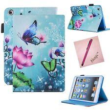 iPad Mini 1/2/3 Case Slim Fit PU Leather Folio Stand Auto Wake/Sleep Smart Alugs