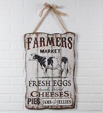 New DAIRY COW FARMERS MARKET French Country Shabby Chic wood Farmhouse Sign