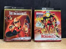 The Incredibles 1 and 2 - 4K w/ Slipcovers - No Digital
