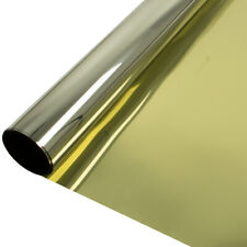 One Way Gold Silver Reflective Mirrored Window Film Privacy Glass Tint Sticker