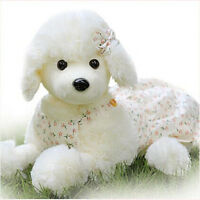 "11.8"" Cute Poodle Toy Dog Stuffed Poodle Animal Plush Soft Puppy White Doll Gift"
