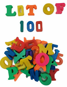 Fridge Magnetic Letters Numbers ABC Alphabet Plastic Toy Learning Lot Of 100 D3