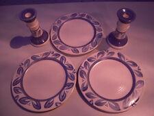 Lot of Pfaltzgraff Villa Flora (Three  Dinner plates and Two Candlesticks)