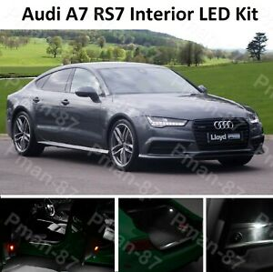 DELUXE AUDI A7 C7 RS7 S7 INTERIOR WHITE UPGRADE LED LIGHT BULBS KIT XENON LEDS
