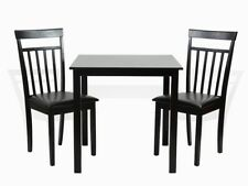 Dining Kitchen 3 PC SET Square Table 2 Warm Chairs Espresso Finish