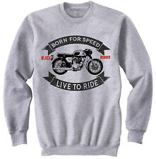 HONDA CB 450 BLACK BOMBER - NEW COTTON GREY SWEATSHIRT ALL SIZES IN STOCK