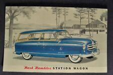 1952 Nash Rambler Station Wagon Postcard Brochure Nice Original 52