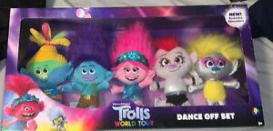 Trolls World Tour Dance Off Plush Set, 5 Pieces, Ages 3 +