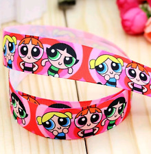 Power Puff Girls Character 25mm Grosgrain Ribbon for Card Making & Bows
