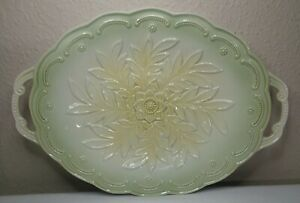 Green And Yellow Floral Appetizer Tray 12.75in. × 8.75in.