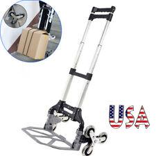 Portable Climbing Stair Cart Folding Hand Truck 6 Crystal Wheel Elastic Ropes