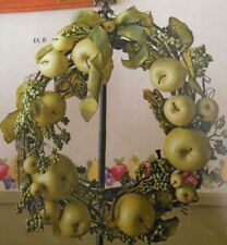 Home Interiors Green Apple Wreath