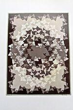 M C Escher Fish  Poster Reprint Optical Illusion of Hidden Fish 16x11