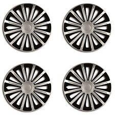 "14"" Black & Silver Wheel Trims Set Of 4 for Vauxhall Vectra Zafira Viva Vivaro"