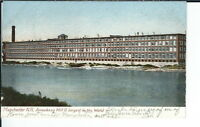AW-030 Manchester, NH, Amoakeag Mill, Largest in World, Undivided Back Postcard