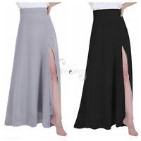 Women's Long Maxi Evening Dress Side Split Skirt Cocktail Party Bridesmaid Gown