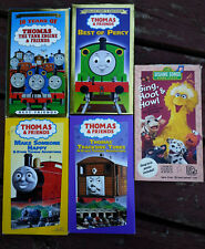 Lot of 4 Thomas & Friends VHS tapes Percy Happy + Sesame Street Sing Hoot Howl