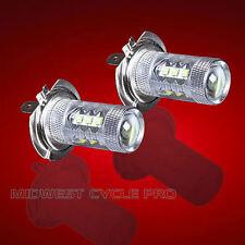 Pair of H7 80 Watt LED Bulbs for Honda Goldwing GL1800 and F6B (10-107 x2)