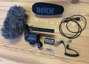 Rode Videomic Pro Plus On-Camera Shotgun Microphone with DeadCat and accessories