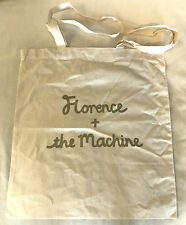 FLORENCE & THE MACHINE Promotional Record Bag NEW! Canvas w/ Gold Screen Print