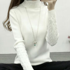 New Winter Womens Slim Fit Warm Turtle neck Knitted Sweater Pullover Tops Jumper