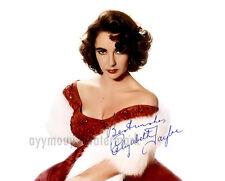 """Elizabeth Taylor 8""""x10"""" Autographed Color Photo - RP"""