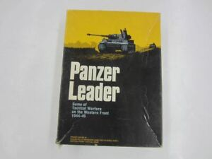 Vintage 1974 Avalon Hill PANZER LEADER Bookcase Game Mostly Unpunched