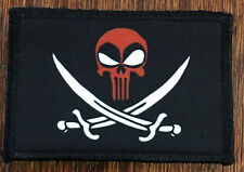 CALICO JACK Deadpool Punisher Morale Patch Tactical Military Flag Army USA