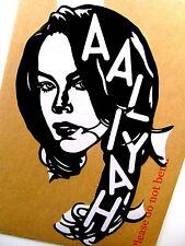 """AALIYAH Original Pop Art Vinyl Sticker 7""""X11"""" inches Music Celebrities Portrait"""