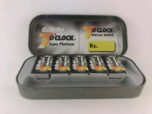 Gillette 7 O Clock Super Platinum Stainless Steel Razor 100 Blades Salon pack