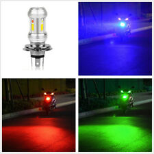3-Color Angle Eye 36W Motorcycle ATVs Tri-Sides H4 LED Headlight Hi/Lo Beam Bulb
