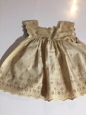 ANTIQUE COTTON dress for FRENCH doll Jumeau Steiner size 7-8