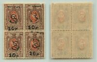 Armenia 🇦🇲 1919 SC 152B MNH block of 4 . e7805
