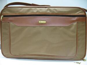 "Vintage MINT Cond. 1980's Samsonite 22"" Carry-On Suitcase Bag Luggage Tan Brown"