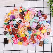 50PC Wholesale Assorted Kawaii Dessert Sweets Food Cabochon Resin Craft Flatback