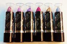 6 Saffron Glitter Lipsticks Light Dark Pink Gold Silver Set B