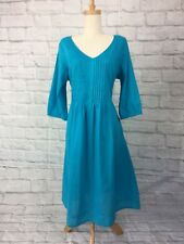 Victoria Hill Size 12 Brand New 3/4 Sleeved Turquoise Tropical Sundress