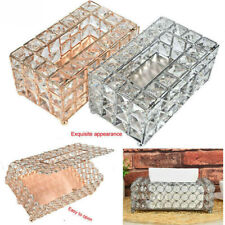 Handmade Square Crystal Tissue Box Tray 200pc Paper Towel Storage