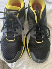 Ortholite Mens Size 8 Black Gray With Yellow Trim Sneakers