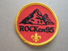 Rock On 95 Cloth Patch Badge Boy Scouts Scouting L4K C