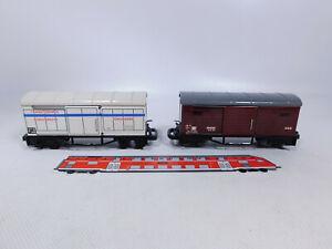 CR11-0, 5 #2x Biller Bahn / Billerbahn Gauge 0e Tin Goods Wagons/Cooling Car, VG