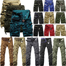 Herren Kampf Camo Cargo Hosen Shorts Baumwolle Militär Armee Casual Arbeit Hose