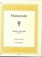 """Anton Dvorak : """" Humoreske """"  Op. 101 No. 7 für Violine u. Klavier"""