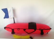 Scuba Dive and Spearfishing Inflatable Torpedo Float with Float line and Flag